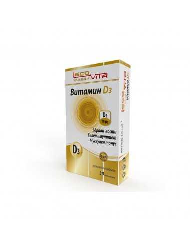 LecoVita Витамин D3 Здрави кости х30...