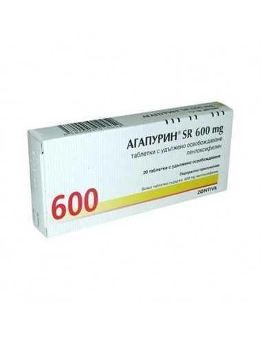 АГАПУРИН SR ТАБЛ. 600МГ Х 20