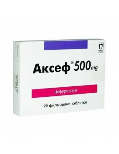 АКСЕФ ТАБЛ. 500МГ Х 20